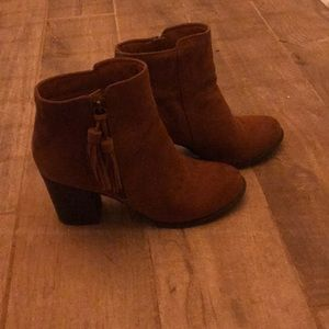 Esprit Brown tassel booties
